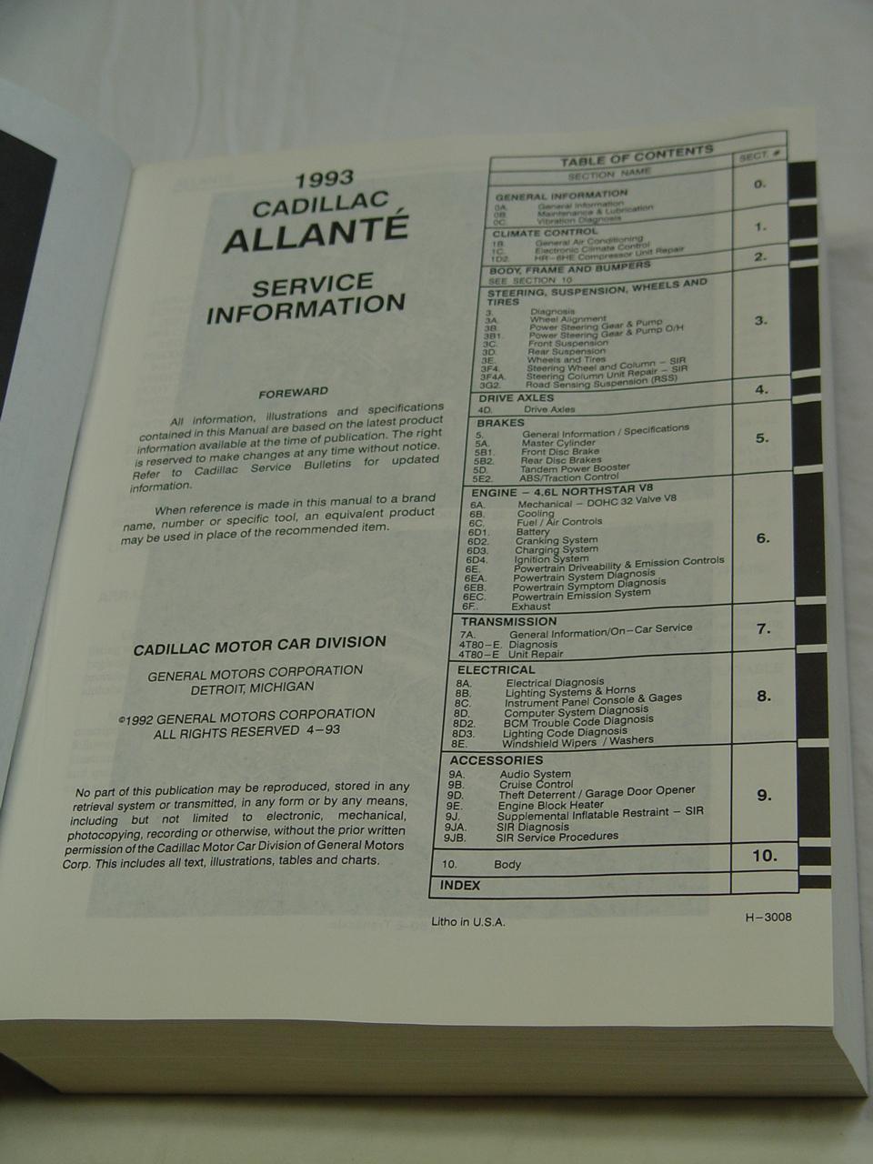 allante 87 89 rh cadillacville com Cadillac Allante Coupe Cadillac Allante Coupe