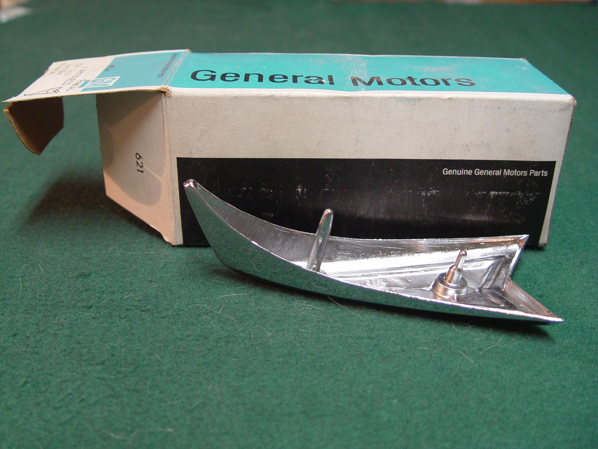 1968 Pontiac Gto Or Tempest Chrome Front Bumper Emblem