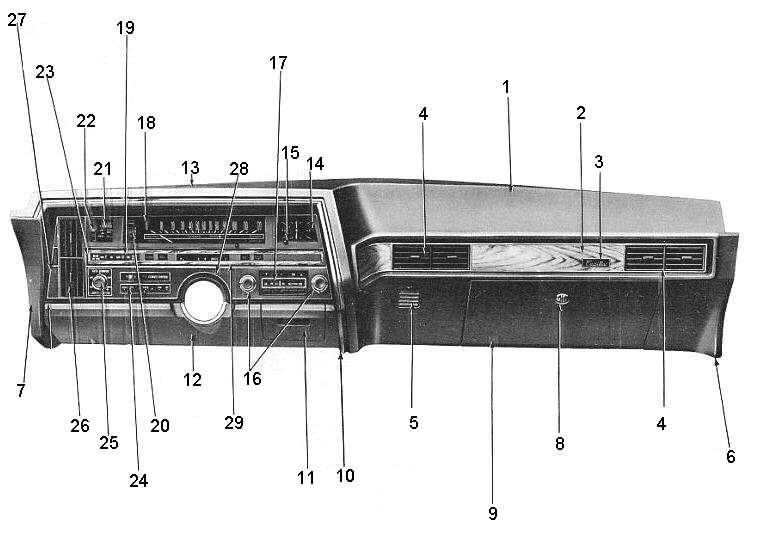 cadillac illustration of dash instrument cluster 1