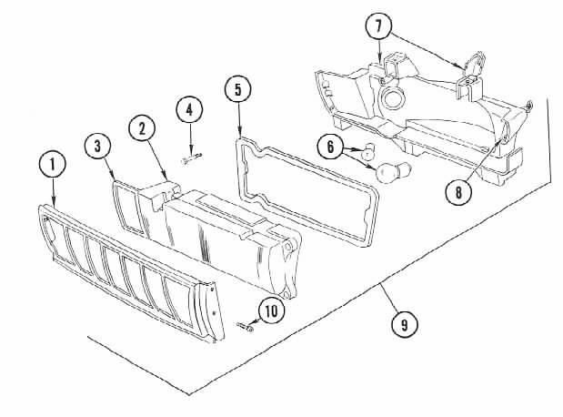 Illustration of marker/corner light assembly