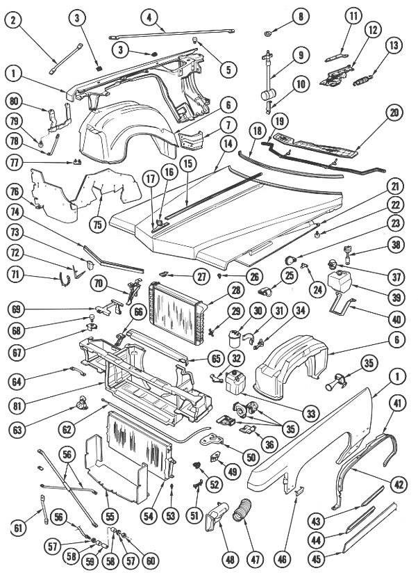 1976 cadillac eldorado parts diagram
