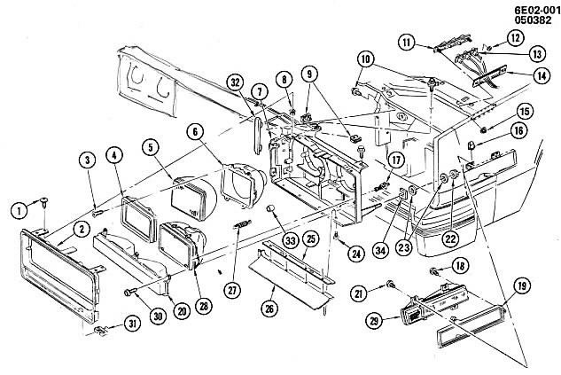 1976 cadillac eldorado parts diagram
